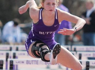 Abby Dodge wins the 100-meter hurdles – Congrats Abby!